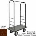 Easy Mover Bellman Cart Black, Brown Carpet, Gray Bumper, 8