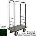 Easy Mover Bellman Cart Black, Green Carpet, Gray Bumper, 8