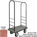 Easy Mover Bellman Cart Black, Tan  Carpet, Gray Bumper, 8