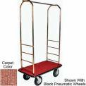 Easy Mover Bellman Cart Brass, Tan Carpet, Black Bumper, 5