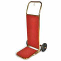 "Bellman's Hand Truck, Titanium Finish, Red Carpet, 6"" Black Pneu"
