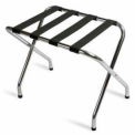 Flat Top Zinc Luggage Rack with Black Straps, 6 Pack