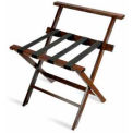 High Back American Hardwood Luggage Rack, Mahogany, 3 Pack - Pkg Qty 3