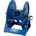 "Dual Hydraulic Hose Spring Rewind Reel 1/4"" I.D., 200' Cap., W/ Outlet Options: Geared Crank"