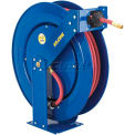 """Safety Series Spring Rewind Hose Reel For Air/Water/Oil: 3/8"""" I.D., 100' Cap., Less Hose, 300 PSI"""