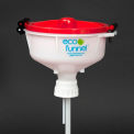"ECO Funnel® EF-3008 8"" ECO Funnel with 53mm Cap Adapter, Red Lid"
