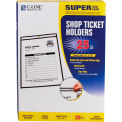 "C-Line Products Auto Shop Ticket Holders, Stitched, Both Sides Clear, 9"" x 12"", 25/BX"