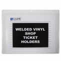 C-Line Products Shop Ticket Holders, Welded Vinyl, Both Sides Clear, Open Long Side, 12 X 9, 50/BX