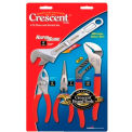 4 Pc. Pliers & Wrench Sets, COOPER HAND TOOLS CRESCENT C1PLAC8