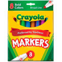 Crayola® Bold Markers, Broad Tip, Assorted, Nontoxic, 8/Set