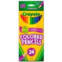 Crayola® Colored Pencils, Sharpened, Assorted, 24/Set