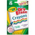 Crayola® Washable Dry Erase Crayons, Nontoxic, Assorted Colors, 8/Box