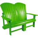 CR Plastics Outdoor Addy Loveseat - Kiwi - Generation Series
