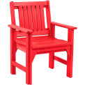 "Generations Dining Slat Back Style Arm Chair, Red, 21""L x 25""W x 36""H"
