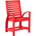 "St Tropez Dining Arm Chair, Red, 21""L x 24""W x 39""H"