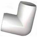 "Schedule 40 Pvc 90 Degree Fitting, 1/2""Dia., White, 111-U - Pkg Qty 25"