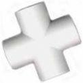 "Slip Cross Fitting, 1""Dia., Furniture Grade Pvc, White - Pkg Qty 25"