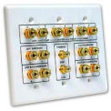 Wallplate, Home Theater, 7.2 Surround Sound, 3 Gang