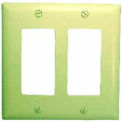Wallplate Cover, Double Gang, Ivory Decora