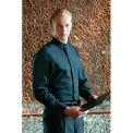 Chef Works® Black Banded-Collar Shirt, Black, L - B100BLKL