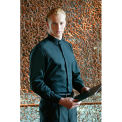 Chef Works® Black Banded-Collar Shirt, Black, XL - B100BLKXL