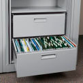 Rotary File Cabinet Components, Letter File/Storage Drawer, Locking, Light Gray