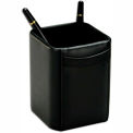 DACASSO® Classic Black Leather Pencil Cup