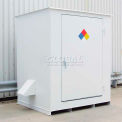 """Denios N-Series 8'W x 5' 10""""D x 8' 2""""H, Non-Combustible Outdoor Storage Building For 4 Drums"""