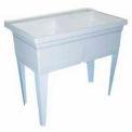 "Fiat FLTDII100 Laundry Tub 40""L x 24""W x 33-1/4""H Floor Mounted, White"