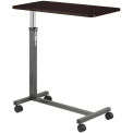 Non Tilt Top Overbed Table, Silver Vein Base