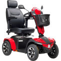 """Drive Medical Panther 4-Wheel Heavy Duty Scooter PANTHER20CS, 20"""" Captain's Seat, Black/Red"""