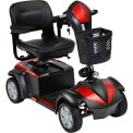 "Drive Medical Ventura 4-Wheel Scooter VENTURA418FS, Standard, 18"" Seat, 350 Lb. Capacity, Red/Blue"
