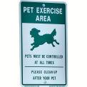 "DOGIPOT® Pet Sign, Off Leash, 18"" x 11-1/2"", Aluminum, Reflective"