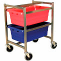 """DC Tech Dual Tote Cart DL101007, Knock Down, Stainless Steel , 24-1/2""""L x 18-1/4""""W x 31""""H"""