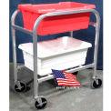 "DC Tech Dual Tote Cart DL102012, Knock Down, Aluminum , 28-1/2""L x 15-1/4""W x 33""H"