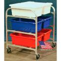 "DC Tech Side by Side Six Tote Cart DL102014, Knock Down, Aluminum , 34""L x 28""W x 39-1/2""H"