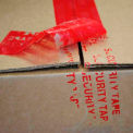 """Printed Tape """"Security Tape"""" 2""""W x 55 Yds Red - Pkg Qty 36"""