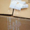 """Printed Tape """"Security Tape"""" 2""""W x 55 Yds White - Pkg Qty 36"""
