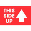 """This Side Up 2"""" x 3"""" - Red / White"""