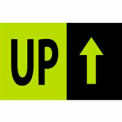 "Up 3"" x 5"" - Fluorescent Green / Black"