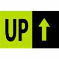 """Up 3"""" x 5"""" - Fluorescent Green / Black"""