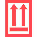 "Arrows Up 3"" x 4-1/2"" - White / Red"