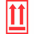 """2 Arrows Up Label 4"""" x 6"""" - White / Red"""