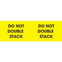 """Don't Double Stack 3"""" x 10"""" - Bright Yellow / Black"""