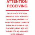 "Attention Receiving 6"" x 10"" - White / Red"