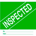 "Inspected 4"" x 4"" - Green / White"