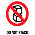 "Do Not Stack 3"" x 4"" - White / Red / Black"