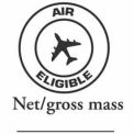 "Air Eligible 2"" x 2"" Net/Gross - White / Black"