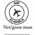 """Air Eligible 2"""" x 2"""" Net/Gross - White / Black"""