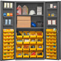 "Durham Storage Bin Cabinet DC36-642S6DS-95 - Hook-on Bins & Shelves 36""W x 24""D x 72""H"